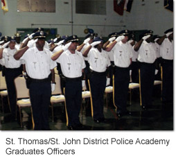 St. Thomas / St. John District Police Academy Graduates Officers