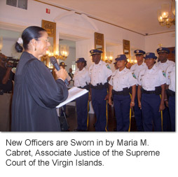 New Officers are Sworn in by Maria M. Cabret, Associate Justice of the Supreme Court of the Virgin Islands